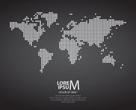 Dotted world map. On dark background Stock Image
