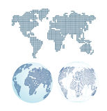 Dotted world map. Earth planet Stock Photos