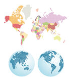 Dotted world map. Earth planet Stock Images