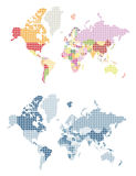 Dotted world map. Earth planet Stock Image