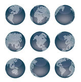 Dotted world map. Earth planet Royalty Free Illustration