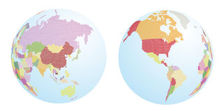 Dotted world map. Earth planet Stock Photo