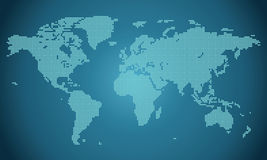 Dotted world map illustration Stock Photos