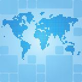 Dotted world map of rounded rectangles Stock Photos