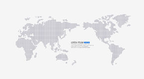 Dotted world map. Vector illustration of world map Stock Photos