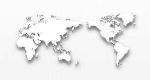 Dotted world map. Vector illustration of world map Royalty Free Stock Image