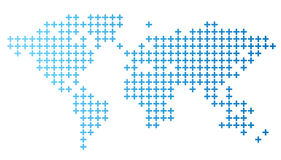 Dotted world map. Vector illustration Royalty Free Illustration
