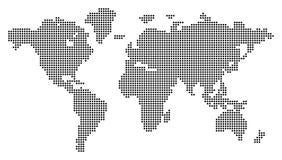 Dotted world map. Vector illustration. Conceptual illustration. on white background Stock Illustration