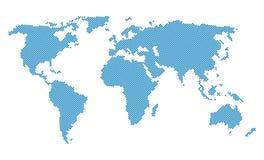Dotted world map. On white illustration Stock Illustration