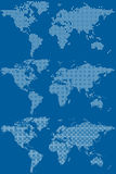 Dotted world maps Royalty Free Stock Photos