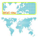 Dotted world vector royalty free illustration