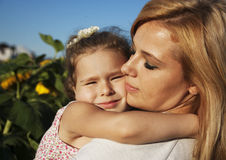 Dotter och mamma Arkivbilder
