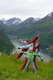dottermammafar Fotografering för Bildbyråer