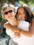 dottermoder fotografering för bildbyråer