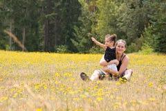 dottermoderbarn Fotografering för Bildbyråer