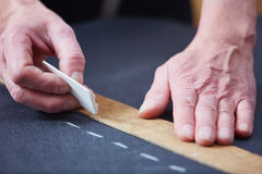 Dotting with chalk royalty free stock photo