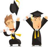 Dottorandi che celebrano illustrazione di stock