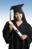 Dottorando asiatico attraente con il sorriso sveglio Fotografia Stock
