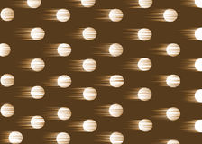Dotty background. Moving dots on the brown background royalty free illustration