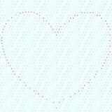 Dotty bezszwowy tło z sercem organizującym czerwone kropki ilustracji
