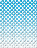 Dotty grid background - circles, graduated Royalty Free Stock Photo