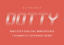 Dotty halftone display font design, alphabet, typeface, letters Royalty Free Stock Photos