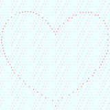Dotty seamless background with heart organized of  Stock Photography