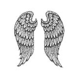 Dotwork Angel Wings Fotografie Stock Libere da Diritti