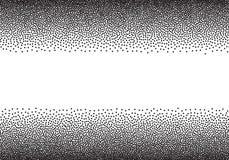 Dotwork gradient background, black and white scattered stipple dots. Dotwork gradient background, black and white stipple dots Royalty Free Stock Photos