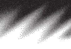 Dotwork gradient background, black and white scattered stipple dots. Dotwork gradient background, black and white stipple dots Royalty Free Stock Images