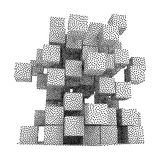 Dotwork Halftone Vector Boxes Icon Royalty Free Stock Image