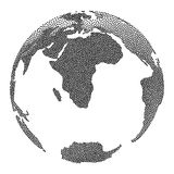 Dotwork Halftone Vector Earth Globe Royalty Free Stock Images