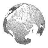 Dotwork Halftone Vector Earth Globe Stock Photo