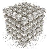 Dotwork Halftone Vector Spheres Royalty Free Stock Image