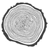 Dotwork Halftone Vector Tree Rings Royalty Free Stock Photo