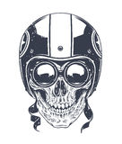 Dotwork Rider Skull Stock Images