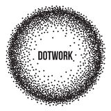 Dotwork Ring Vector Banner illustration stock
