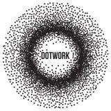 Dotwork Ring Vector Banner Image stock