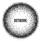 Dotwork Ring Vetora Banner Imagens de Stock