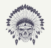 Dotwork Skull Art Stock Image