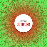 Dotwork Star Banner. Royalty Free Stock Photo