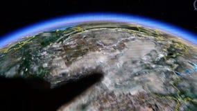 Dotyk kuli ziemskiej gps mapa na ipad ilustracji
