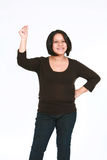 dotyka chapnąć latynoskiej kobiety Zdjęcie Stock