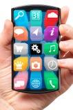 Dotyka ekranu smartphone royalty ilustracja