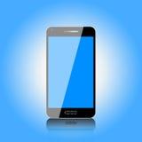 Dotyka ekranu telefon komórkowy Z Błękitnym tłem Obraz Stock