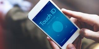Dotyka ID dostępu Cyber Cyfrowego ochrony grafiki pojęcie obraz royalty free