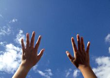 Dotyka niebo Fotografia Stock