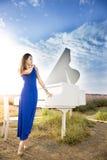 Dotykać pianino Zdjęcie Stock