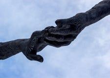 Dotykający ręką Obraz Stock