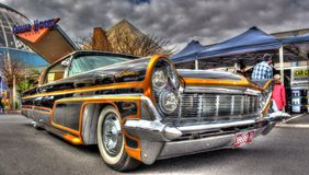 Douane geschilderde jaren '50 Amerikaans Ford Lincoln Continental royalty-vrije stock foto's